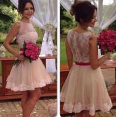 Tulle Homecoming Dress,White Homecoming Dresses,Lace Homecoming Gowns,Short Prom Gown,Sweet 16 Dress,Short Cocktail Dress,White Evening Gown