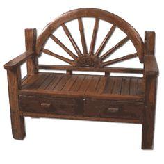 Glenfield Half Wagon Wheel Bench