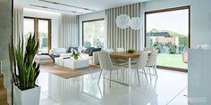 Tutaj znajdziesz zdjęcia pięknie zaaranżowanych wnętrz Living Room Modern, Home Living Room, Living Room Designs, Living Room Decor, Interior Exterior, Modern Interior, Interior Design, Dining Room Table Decor, Home Decor Kitchen