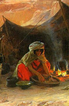 Artist: Eugene Alexis Girardet (French Title: Bedouins in the Desert Medium: Oil on canvas Size: x This is a rather large painting and as a photographic reproduction looses a lot of it's impact. Art Amour, Cultural Crafts, Academic Art, Art Et Illustration, Arabian Nights, Beautiful Drawings, Large Painting, Ancient Civilizations, North Africa