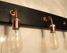 Bathroom Vanity Lamp - Bathroom Lighting - Vanity lighting - Edison Bulb Lamp - Copper Hardware - Bathroom Light fixture