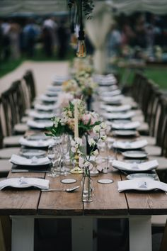 Rustic trestle tables make are a great option for wedding dining. Lay up with a mix of flowers candles and tealights for an informal table setting. Photo credit: Travers and Brown Photography Marquee Hire, Marquee Wedding, Wedding Table, Rustic Wedding, Trestle Tables, Devon And Cornwall, Table Flowers, Exeter, Somerset