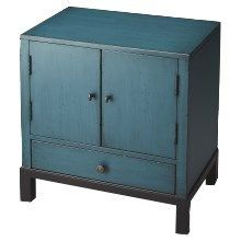 Butler 7008331 Courtland Accent Cabinet in Distressed Blue