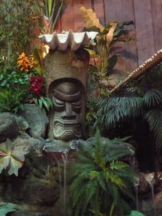 tiki water feature