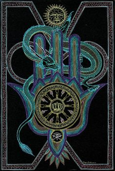The Wheel of Fate - Awaken to a vision's infinite by Lakandiwa on DeviantArt Sacred Geometry Art, Sacred Art, Esoteric Art, Wheel Of Fortune, Psychedelic Art, Color Of Life, Tarot Decks, Picture Design, Mandala Design