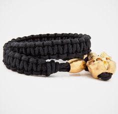 For the wife! Alexander McQueen Woven Skull Bracelet
