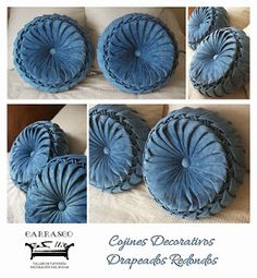 Cojines on pinterest pillows ruffle pillow and old jeans - Cojines hechos a mano ...