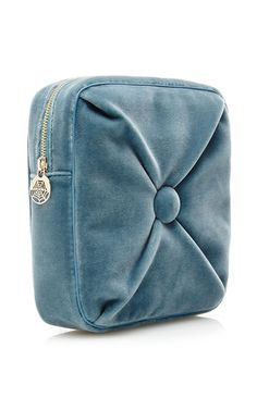 Blue Velvet Square Cushion Pouch by CHARLOTTE OLYMPIA Now Available on Moda  Operandi Novelty Bags, dafadfe798c