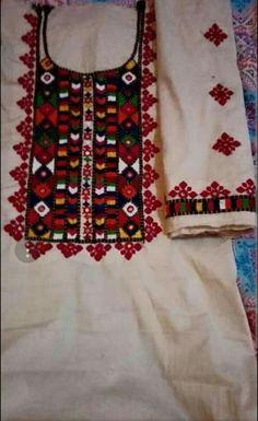Embroidery Neck Designs, Embroidery Dress, Embroidery Stitches, Hand Embroidery, Balochi Dress, Laptop Wallpaper, Fairy Art, Churidar, Dress Designs