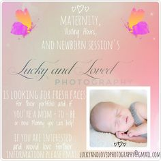 #Repost @luckyandlovedphotography with @repostapp ・・・ 〰I need YOUR HELP! Let's get the word out!! Share with your friends !👆👆 @luckyandlovedphotography is looking for fresh faces!!! 🤗  Maternity Session | Visiting Hours Session | and/or Newborn Session  Book now for a DISCOUNTED session!! I will pick a few inquires at random to receive a FREE session!! Questions about prices? Availability?  Please send an email or message for any further information !! Please include due date or Newborn…