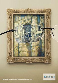 Keloptic- peinture Monet /// Agence Young and Rubicam /// Voyez plus clair pour moins cher sur www.keloptic.com
