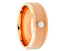 Rose Gold Tungsten Ring Rose Gold Tungsten di Lasercraftdesign
