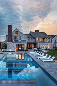Too big of a house, but we really like this style and we like the Black mullions with natural shingles