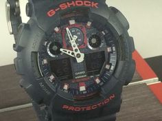 Casio G Shock Ga 100mc Antimagnetic Absorbing Structure 20 Bar Wr Blue