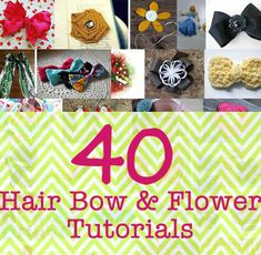 40 Incredibly Cute Hair Bow and Flower Tutorials | DIY Cozy Home