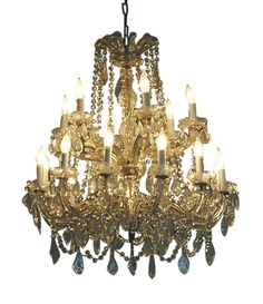 Vintage Crystal Chandelier on Chairish.com
