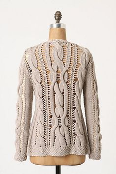 Openwork Cables Cardigan - Anthropologie