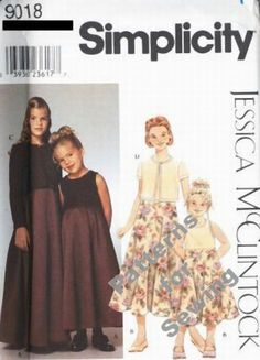 MCCALL/'S PATTERN DRESS 4 STYLES SASH GIRLS/' SIZE 3-6 or 7-14 # M6880