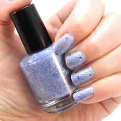 Iced Violet Nail Polish - Light Blue Purple Glitter Nail Color by KBSHIMMER