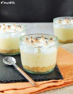 Vasito individual de limón con merengue | L'Exquisit