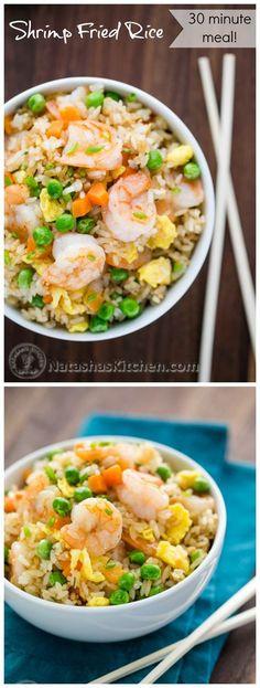Shrimp Recipes, Rice Recipes, Asian Recipes, Dinner Recipes, Cooking Recipes, Healthy Recipes, Broccoli Recipes, Oven Recipes, Desert Recipes