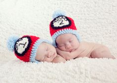 Thing1 and Thing2 style newborn and infant hats by LosiCreations, $18.00 (per hat)
