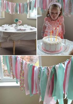 DIY Inspiration - Scrap Fabric Garland. Love the colors & patterns used here.