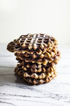 liège waffles with powdered sugar