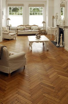 Oak Aged Parquet Woodblocks Love the mixture of tones and pattern.