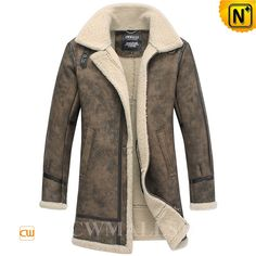 CWMALLS® Custom Vintage Shearling Trench Coat CW838001 Vintage shearling coat designed in trench style, crafted from imported natural sheepskin shearling material, CWMALLS offer customize service for this shearling coat, finished with buckle leather strap at collar, front full zip,buckled tab at bottom. www.cwmalls.com PayPal Available (Price: $1887.89) Email:sales@cwmalls.com