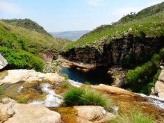 Parte alta da Cachoeira Casca D'anta - Serra da Canastra - MG