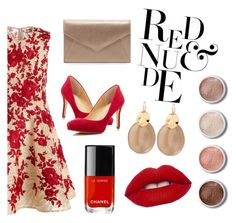 """""""Red & Nude.."""" by kiyourachihiro on Polyvore featuring Naeem Khan, Ivanka Trump, Neiman Marcus, Terre Mère, Alexis Bittar and Chanel"""