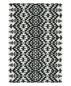 Kaleen Black Geometric Indoor/Outdoor Rug | zulily