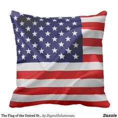 The Flag of the United States of America Throw Pillow