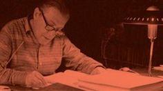 Louis Paul Boon achter schrijftafel
