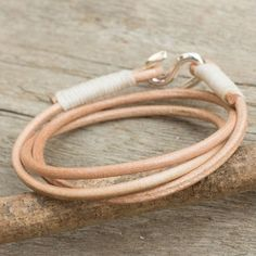 Handmade Leather 'Slender Fawn' Bracelet (Thailand) | Overstock.com Shopping - The Best Deals on Bracelets