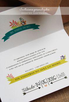 invitaciones originales #personalizacion www.eventosilustrados.com
