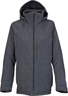 Burton Womens AK 2L Embark Jacket (Heathered True Black   Medium) Womens  Snowboard Jacket 56c780ba39