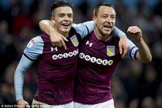 Jack Grealish (left) praised John Terry for his impact at Aston Villa since arriving last summer Jack Grealish, Aston Villa Fc, Championship Football, Fulham, Language, Memes, Boys, Sports, Summer