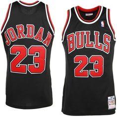 Mens Chicago Bulls Michael Jordan Mitchell   Ness Black  97- 98 Hardwood  Classics Authentic Jersey 9f566f641