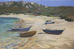 David Rolt Discover original British 20th century Modern artworks available to buy on http://www.roberteaglefineart.com/ Follow the link and find something perfect for your home! #modern #british #decor #ideas #art #home #interior #affordable #roberteaglefineart #painting #boat #coast #beach #summer #holiday #calm #nautical #sea