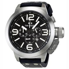 TW Steel Canteen Chronograph Black Dial Stainless Steel Mens Watch TW4 TW Steel. $246.31. Save 53% Off!