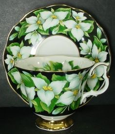 Royal Albert cup and saucer in Trillium pattern