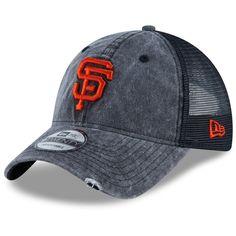 newest 41982 71b4c Men s San Francisco Giants New Era Black Tonal Washed Trucker 2 9TWENTY  Adjustable Snapback Hat,  25.99
