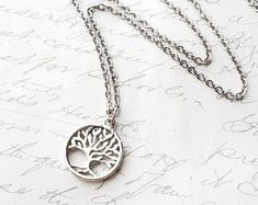 Check out our tree of life minimalist selection for the very best in unique or custom, handmade pieces from our pendants shops. Tree Necklace, Pendant Necklace, Tree Of Life, Washer Necklace, Minimalist, Pendants, Handmade, Etsy, Jewelry