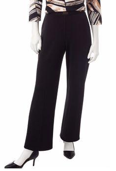 Alfred Dunner Womens Pants Madison Park Pull On Black Solid size 10 short NEW  16.99 https://www.ebay.com/itm/232459553706