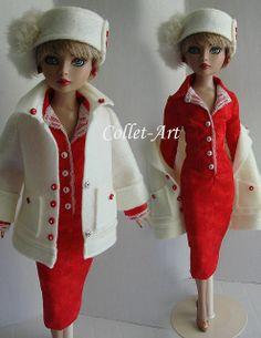 "2013 Tonner Wilde Imagination Ellowyne Wilde Pridence Amber Lizette Imperium Park OOAK Fashion Retro ""Christmas Shopping to Entertaining"" Co..."