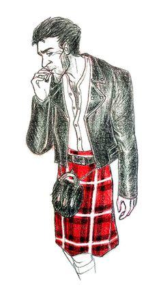 Human Bog King in kilt. He's embracing his Scottish heritage. Totally referenced a pic of Ewan McGregor. Strange Magic Movie, Cartoon Ships, Men In Kilts, Ewan Mcgregor, Animated Cartoons, Sexy Men, That Look, Fan Art, Cute