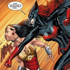Batwoman VS Wonder Woman by @underdogmike & J. Nanjan! - Comic - 'Injustice: Gods Among Us: Year 3' #11 (#22 digitally)