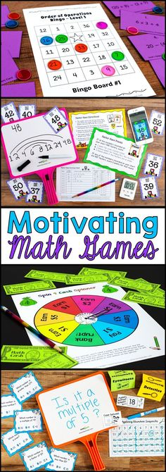 Awesome collection of fun math games that are also highly effective for math practice! Most of these math games work with 3rd grade, 4th grade, and 5th grade students, and many can be adapted for other grades. Perfect for math centers, cooperative learning, or guided math groups.